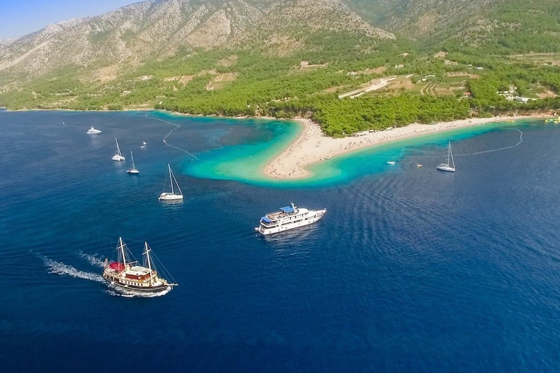 Polaris Yacht boat excursion from Split to the Golden horn beach in Bol, Brac Island