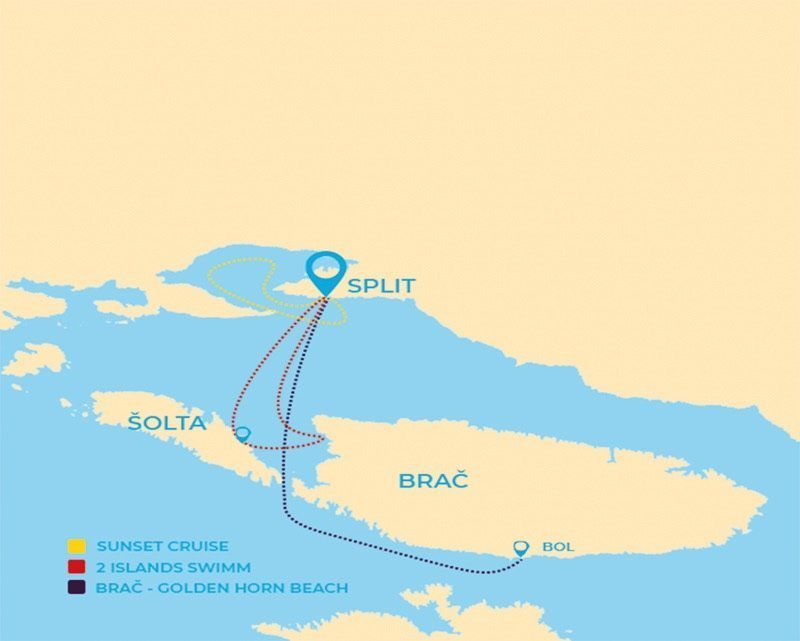 Boat tours route Polaris Split